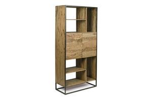 Bücherregal 2A Egon, Minimales Bücherregal mit Stahlkonstruktion