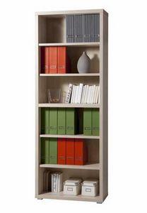 Bücherregal aus Holz 6 Regale Modernes Design Büro- und Studienmagazin, Modernes modulares Bücherregal aus Holz