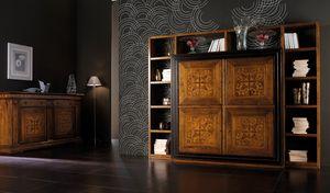 Ca' Venier Art. CV1006, Bücherregal aus massivem Walnussholz