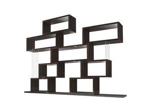Chaos, Modulares Bücherregal mit geometrischem Design