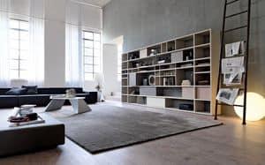 Citylife 33, Modernes Bücherregal für Wohnbereiche geeignet