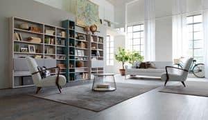 Citylife 35, Modulares Bücherregal für Wohnbereiche geeignet