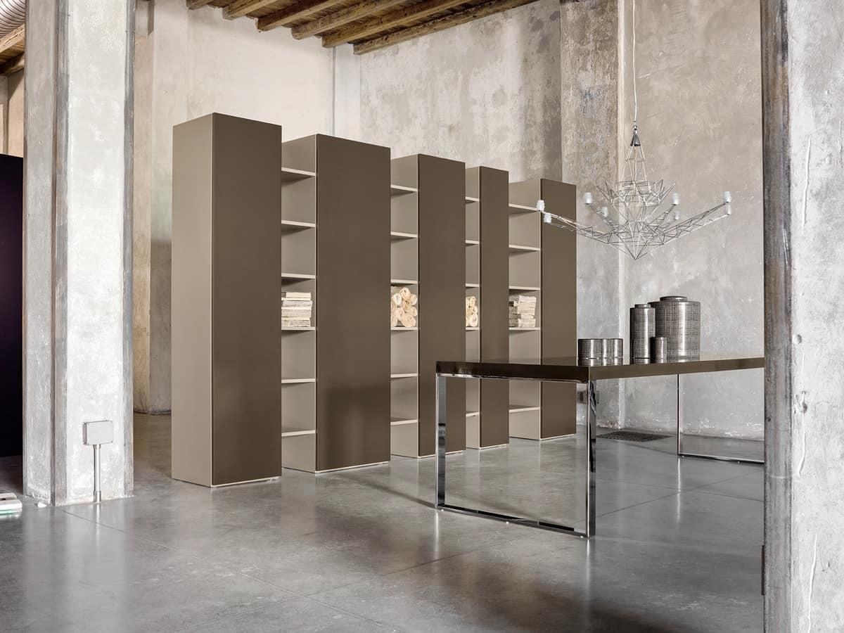 CODE comp.01, Kostbaren Bücherregal mit Türen, für Luxus-Hotels