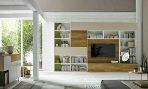 Comp. A036, Bücherregal mit verstecktem Schreibtisch