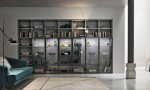 Comp. A053, Bücherregal mit Glastüren