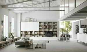 Comp. A115, Modulares Bücherregal mit modernem Design