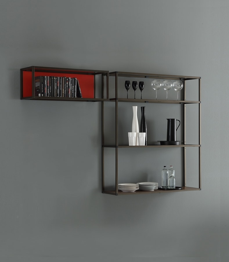 dl400 modus, Modulare Bücherregale aus Aluminium