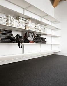 Dot System, Modulare Bücherschrank aus Holz, aus strapazierfähigem Aluminium
