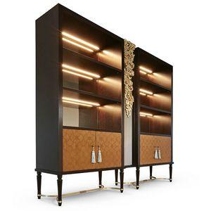 FLORA / Bücherregal, Bücherregal mit eingelegten Türen