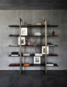 Frame Bookcase, Bücherregal aus Metall und Holz