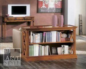 Giove Bücherregal, Niedriger Bücherschrank aus Massivholz