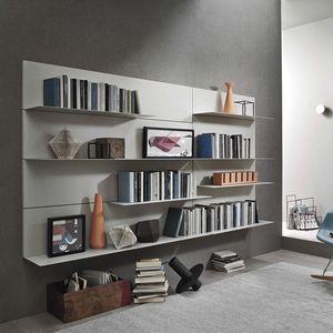 Lampo L5C38, Hängendes Bücherregal mit Metallregalen