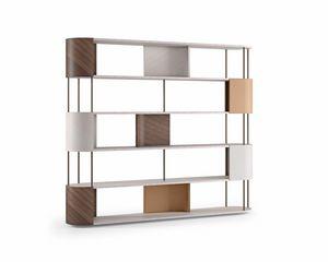 LB53 Gae Bücherregal, Bücherregal aus edlen Materialien