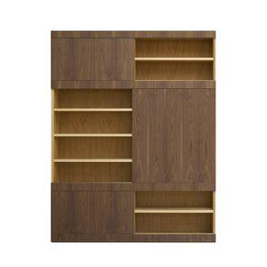 Maschera FS3510599, Bücherregal aus Holz mit Schiebetüren