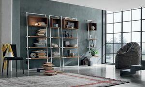 Movida, Bücherregal mit dynamischen schrägen Linien