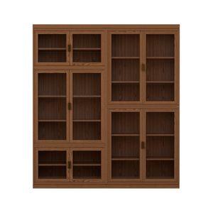 Novecento FS3314322, Modulares Bücherregal aus Holz