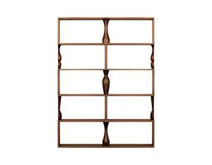 Perbacco 6204/F, Modulares Bücherregal aus Esche