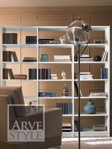 Salieri Bücherregal, Bücherregal aus Holz, mit einem nüchternen und eleganten Design