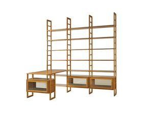 Scala FS3410176, Modulares Bücherregal aus Holz