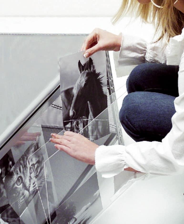 Socrate customizable panels, Modular anpassbare Regal in Methacrylat