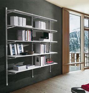 Socrate home, Mobile für Bücher mit Glasböden, für den Heimgebrauch
