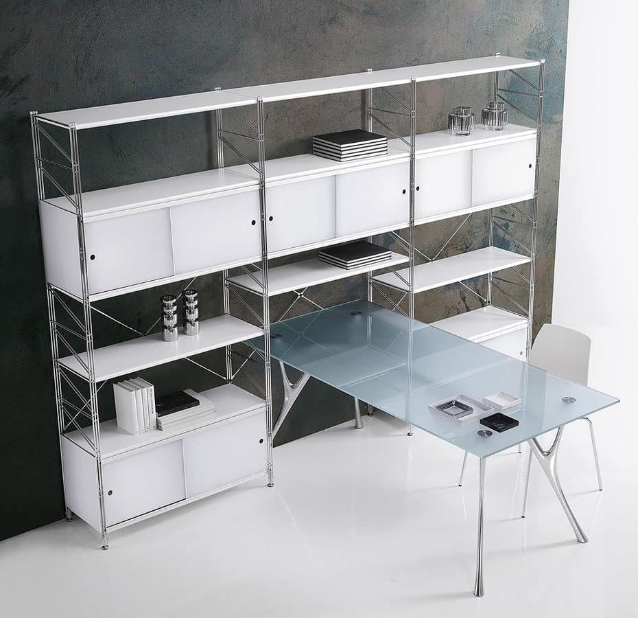 Socrate Schließung, Modulares Bücherregal für Heim und Büro