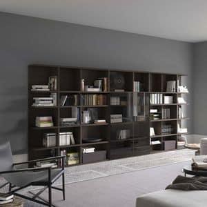 Spazioteca SP017, Modulares Bücherregal, maßgeschneiderte, für den professionellen Einsatz