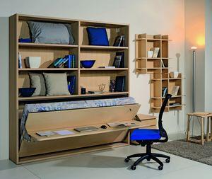 Surf LS441 Schreibtisch, Bücherregal mit Schreibtisch und Klappbett