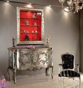 Virgilio Bücherregal, Hängeschrank, mit dekoriertem Rahmen