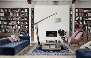 Wallis W004G, Modular ausgestattete Wand für Wohnzimmer