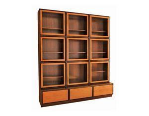 Zero FS3410170, Bücherregal mit Glastüren