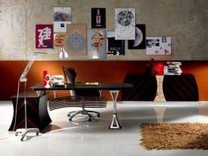SC19 Cartesio Schreibtisch, Executive Schreibtisch in Ebenholz, für Office