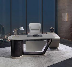 SC30 Century Schreibtisch, Schreibtisch mit Lederplatte