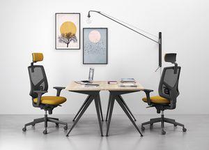 Active, Arbeitsstuhl mit jugendlichen und dynamischen Linien