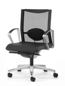 AVIANET 3604, Stuhl mit 5-Speichen, mit Lordosenstütze, für das Büro