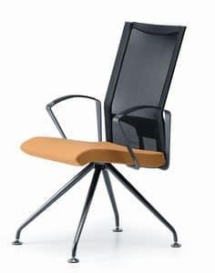 AVIANET 3649, Stuhl mit Metallgestell, mit Armlehnen, für das Büro