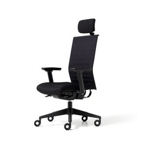 Fit up, Polsterstuhl für Büro mit Rollen, Armlehnen und Kopfstützen