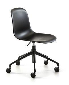 Máni plastic HO, Stuhl mit Rädern, in der Höhe verstellbar