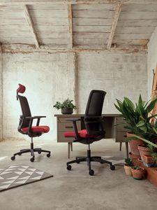 Omnia 01 PT, Bürostuhl mit Kopfstütze