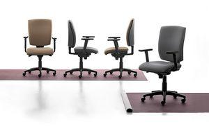 Pole 01 SY, Bürostuhl mit Armlehnen und Räder für Büro