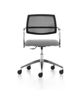 Samba Air 03, Bürostuhl mit Rollen, Netzrücken, für das Büro