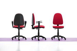 Viky 01, Einfache Bürostuhl, mit Armlehnen und Räder