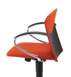 VULCAN 1310 Z, Gepolsterte Arbeitsstuhl mit Chrom Armlehnen, für das Büro