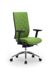 Wiki Tech, Drehstuhl für Büro, mit rhombus Rückenlehne