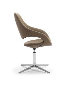 Samba Plus Klinge, Moderner Stuhl mit Drehbasis mit 4 Rennen