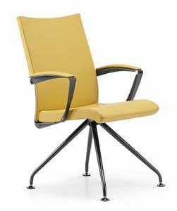AVIA 4085, Gepolsterter Stuhl mit Armlehnen, für Tagungsraum