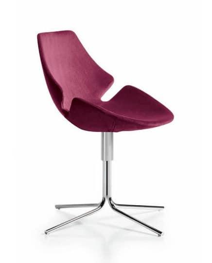 Eon schwenken röhrenförmigen, Stuhl mit Kunststoffschale, für medizinische Studios