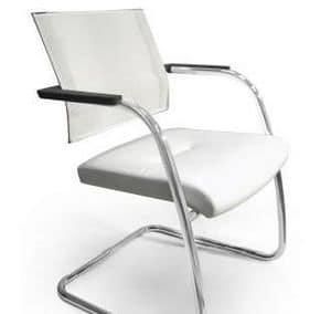 TITANIA 2867, Stuhl mit verchromtem slad Basis und Netzkappe