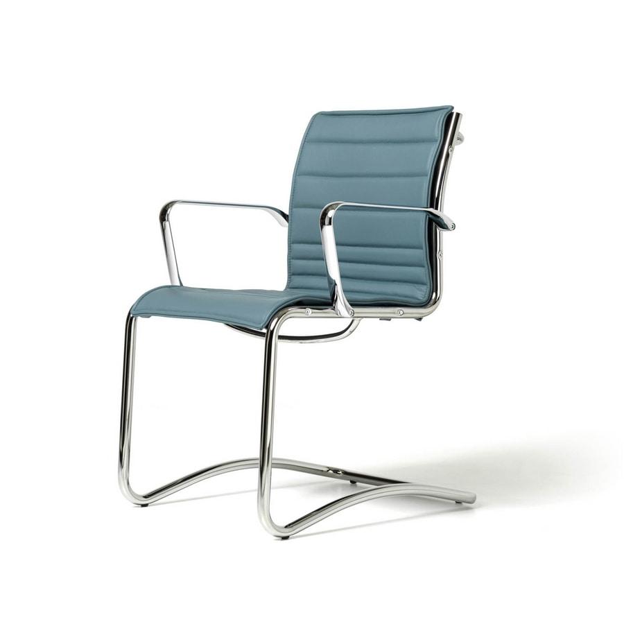 Auckland chair, Polsterstuhl für Besucher, Netto-Shell, verschiedene Farben