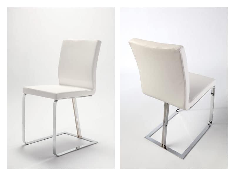 Linea, Moderner Stuhl, original auf Kufen, für Wohnzwecke